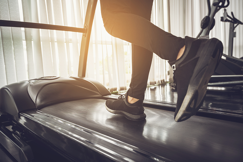 treadmill feet only, Exercise is important for women with ADHD